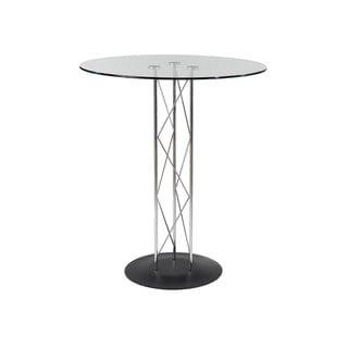 Trave-B Bar Table Clear Glass/ Black