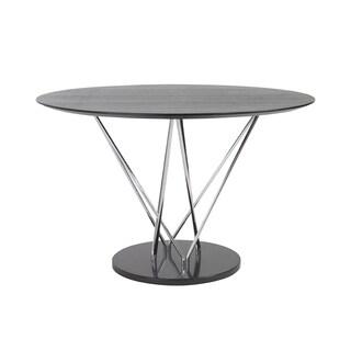 Stacy Round Dining Table - Black/Ebony/Chrome