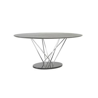 Stacy Oval Dining Table - Black/Ebony/Chrome