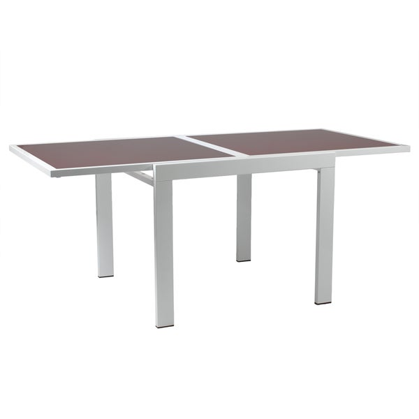 Duo Red Glass Square Table