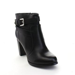 VIA PINKY KAYLA-83 Women's Stylish Stacked Heel Ankle Booties