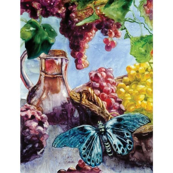 Rustic Fruit Stretched Canvas (12-inches X 16-inches)