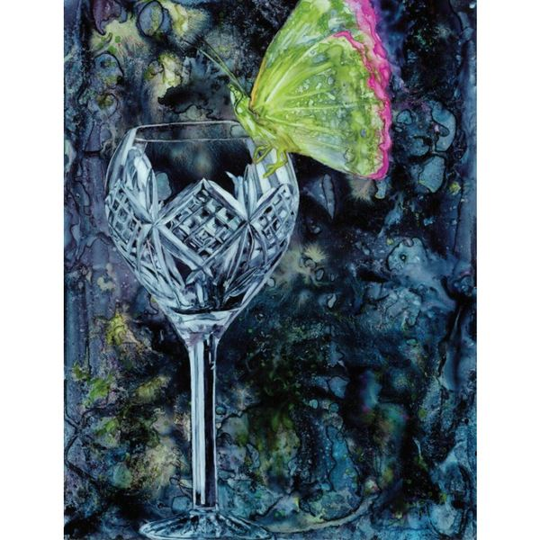 Jody Omeara 'The Empty Glass' Stretched Canvas