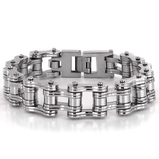 Crucible Stainless Steel Bicycle Chain Link Bracelet - 8 inches (16 mm)
