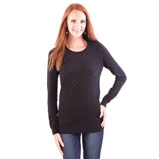 DownEast Basics Women's Rhinestone Sweater