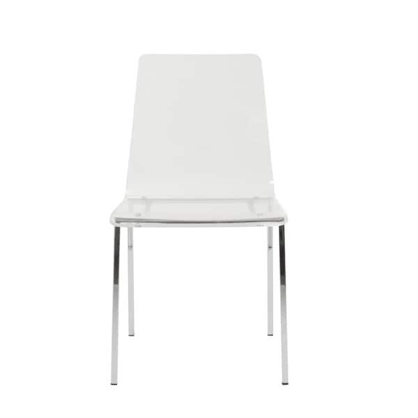 Chloe Side Chair (Set of 4) - Clear/Chrome