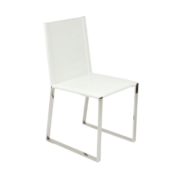 Cora White Side Chairs (Set of 2)