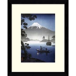 Japanese Print '(Mount Fuji from Tagonoura)' 12x15-inch Framed Art Print