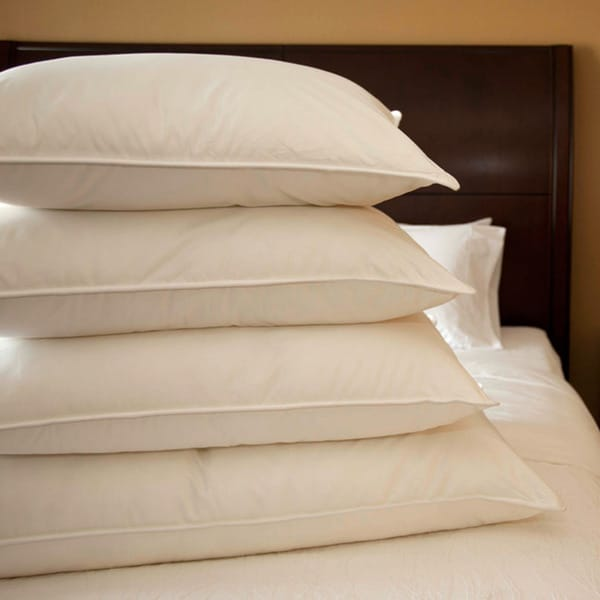 Extra-firm Cambric Cotton 600 Fill Power White Goose Down Pillow King Size (As Is Item)