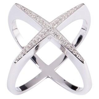 """La Preciosa Sterling Silver Designed """"""""X"""""""" Ring"""