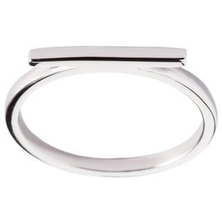 La Preciosa Sterling Silver Thin Horizontal Bar Ring