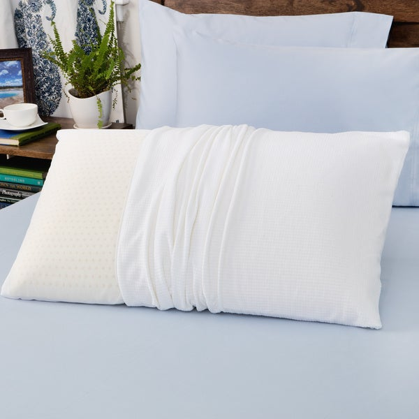 Authentic Talatech 230 Thread Count Latex Foam Medium Density Pillow (As Is Item)