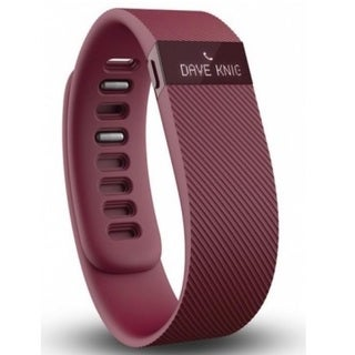 Fitbit Charge Burgundy Wireless Activity Tracker and Sleep Large Wristband