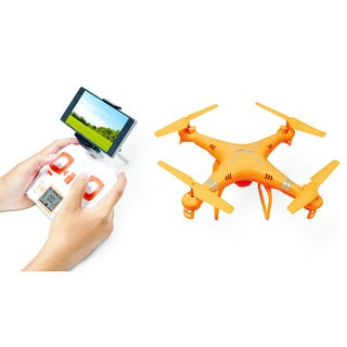 Firestorm Smart Drone Kit with Video Camera, FPV Live Streaming, and Remote Controller