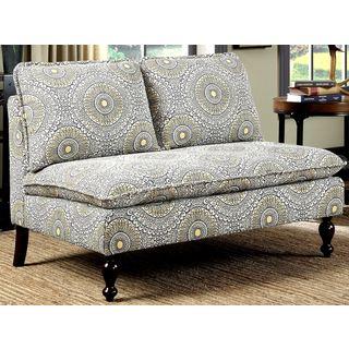 Sicily Design Charming Upholstered Living Room Settee