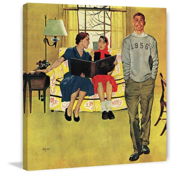 Marmont Hill - 'Boyfriend's Baby Pictures' by George Hughes Painting Print on Canvas