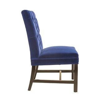 Sunpan 'Club' Orwalk Dining Chair - Giotto Navy Fabric