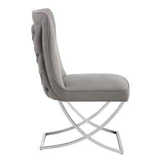 Sunpan 'Club' Rivoli Vintage Linen Grey Fabric Dining Chair