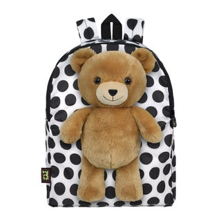 PetSac White Polka Dot Teddy Children's Backpack