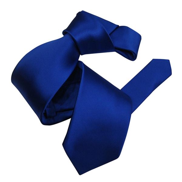Dmitry Men's Royal Blue Solid Italian Silk Tie