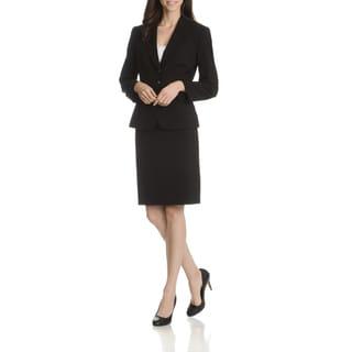 Tahari Arthur S. Levine Women's Notch Collar 2-Piece Skirt Suit