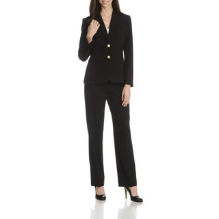 Tahari Arthur S. Levine Women's Novelty Button 2-Piece Pant Suit