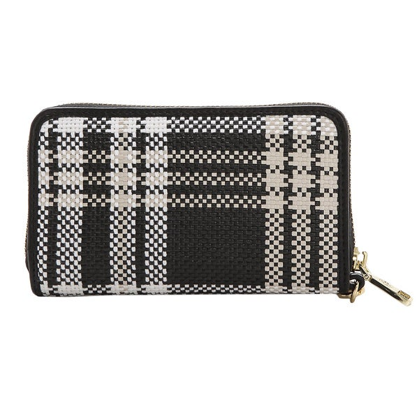 Tory Burch Black and White Smart Phone Wristlet