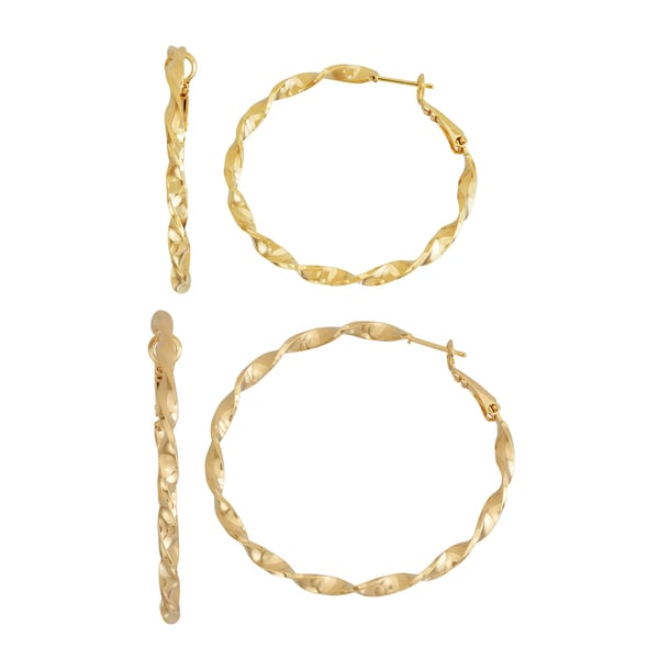 Isla Simone- GOLD TWISTED HOOP - 40MM/50MM