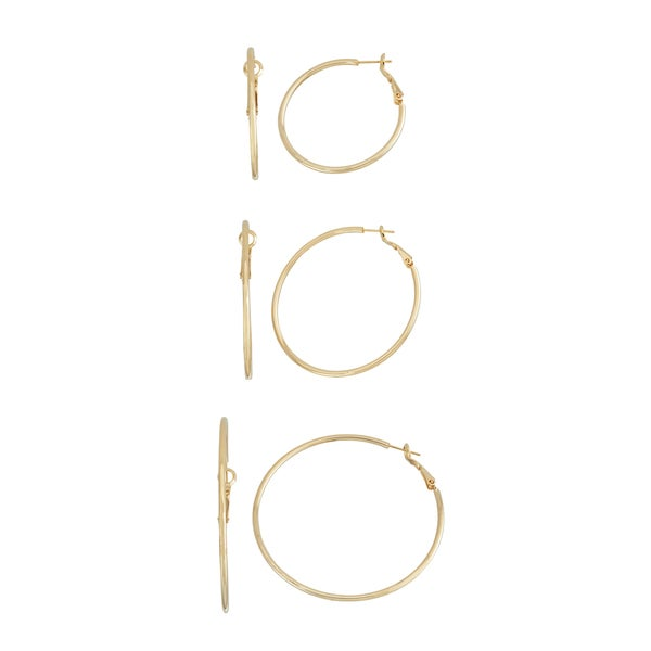 Isla Simone- GOLD SHINY HOOP - 40MM/50MM/60MM