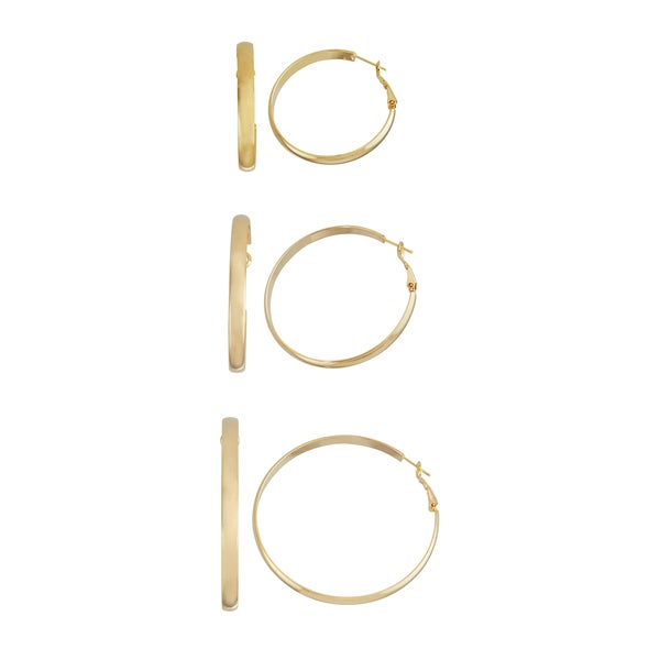 Isla Simone- GOLD ROUNDED HOOP - 40MM/50MM/60MM