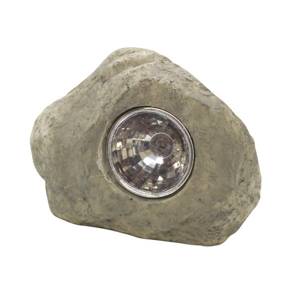 Mini Garden Decoration Solar Rock Spot Landscape Light 1 White LED - (12 pack)