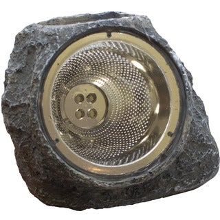 Garden Solar Rock Light Four (4) White LED AA Ni-CD 600MAH (6-pack)