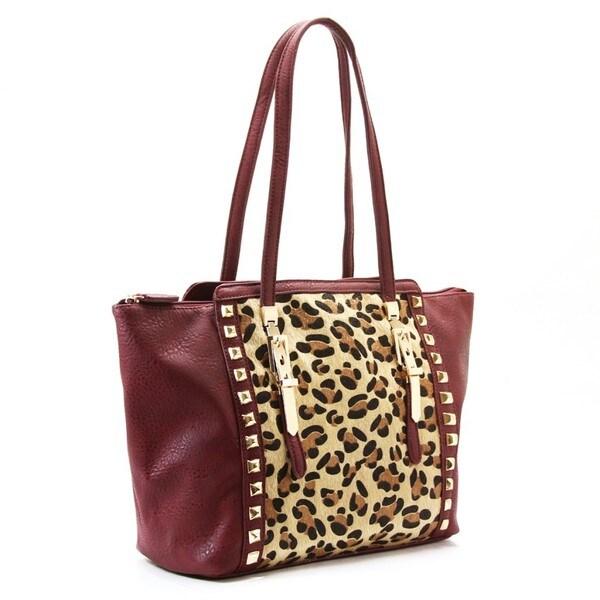 Buffalo Fandango Cacleste Leopard Shoulder Tote Handbag