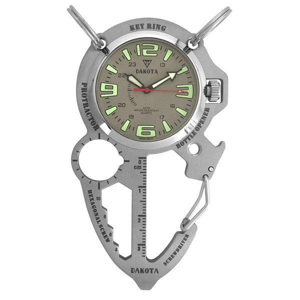 Dakota Men's Silver Multi Tool Clip Watch
