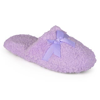 Journee Collection Women's Backless Plush Slippers
