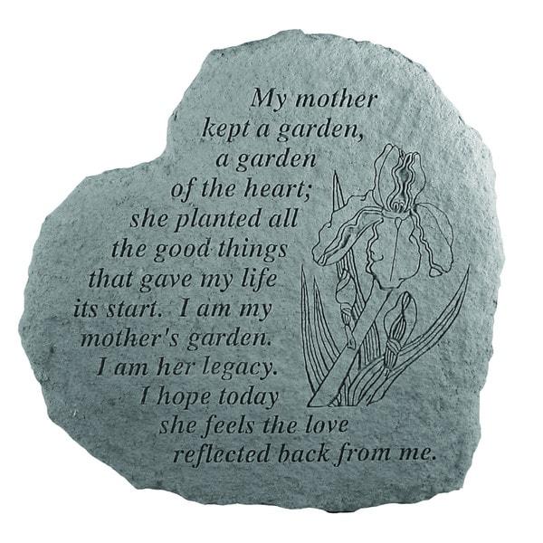 Garden Grey Heart Stone