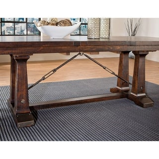 Hayden Rough Sawn Espresso Trestle Dinette Table