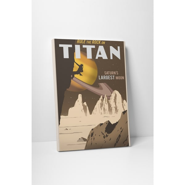 Steve Thomas 'Rule the Rock on Titan' Gallery Wrapped Canvas Wall Art