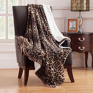 Animal Faux Fur Throw