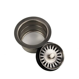 Highpoint Collection Brushed Stainless Finish Disposal Drain with Extended Collar