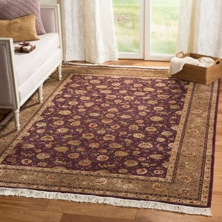 Safavieh Hand-knotted Tabriz Floral Purple/ Green Wool/ Silk Rug (5' x 7')