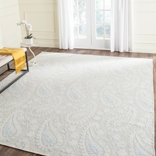 Safavieh Hand-knotted Mirage Light Blue Wool/ Viscose Rug (8' x 10')