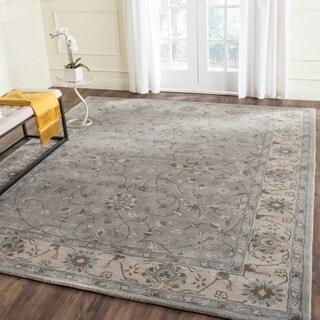 Safavieh Handmade Heritage Beige/ Grey Wool Rug (8' x 10')