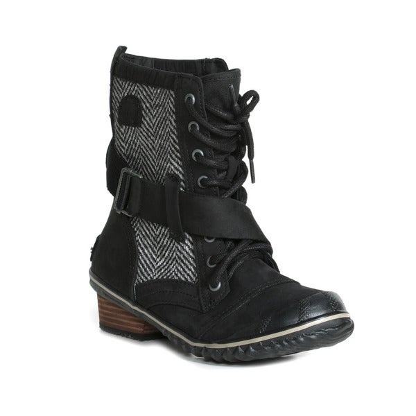Sorel Womens Slimboot Lace Herringbone Boots
