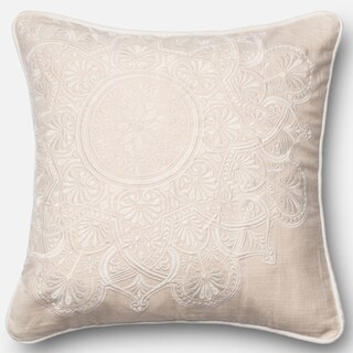 Embroidered Geometric Lattice Down Feather or Polyester Filled 18-inch Throw Pillow or Pillow ...