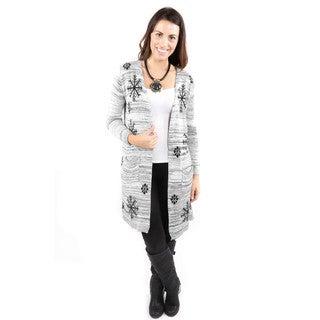 Hadari Women's Snowflake Winter Cardigan Sweater