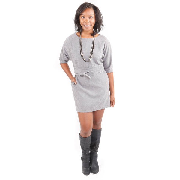 Hadari Women's Grey Belted Tunic Top