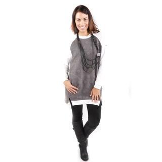 Hadari Women's Color Block Textured Sweater