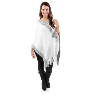 Hadari Women's Softest Fringe Handkerchief Hem Poncho