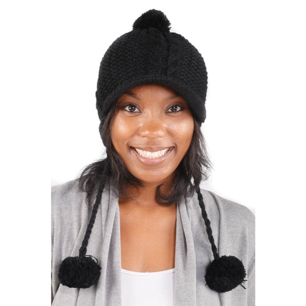 Hadari Women's Must Have Black Classic Beanie
